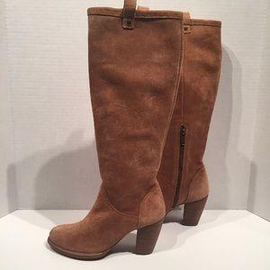 Ugg Women's Ava Chestnut Tall Suede Heel Boots